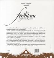 Fer-Blanc (Le) - 4ème de couverture - Format classique