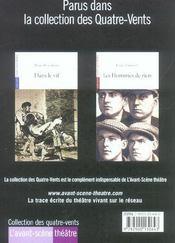 Revue L'Avant-Scene Theatre N.1154 ; Lunes De Miel - 4ème de couverture - Format classique