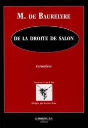 De La Droite De Salon - Couverture - Format classique