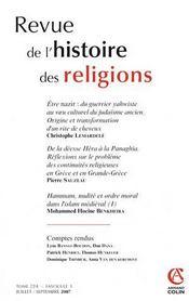 Revue De L'Histoire Des Religions N.224/3 - Intérieur - Format classique