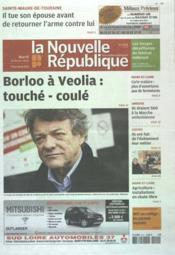 Nouvelle Republique (La) N°20475 du 21/02/2012 - Couverture - Format classique