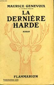 La Derniere Harde. - Couverture - Format classique