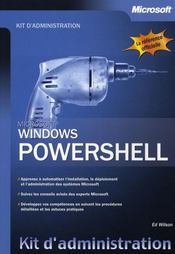 Vente livre :  Windows powershell ; kit d'administration  - Wilson