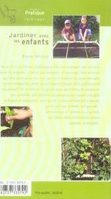Jardiner avec les enfants - 4ème de couverture - Format classique