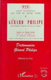 Dictionnaire Gérard Philipe - Couverture - Format classique