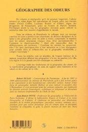 Geographie Des Odeurs - 4ème de couverture - Format classique