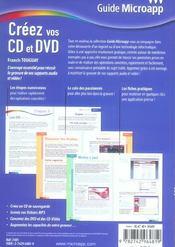 Creez Vos Cd Et Dvd - 4ème de couverture - Format classique