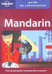 Guide De Conversation ; Mandarin - Intérieur - Format classique