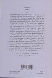 Sur Le Principe De Contradiction Chez Aristote - 4ème de couverture - Format classique