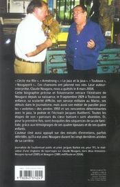 Nougaro, Une Biographie - 4ème de couverture - Format classique