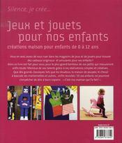 Jeux et jouets pour nos enfants - 4ème de couverture - Format classique