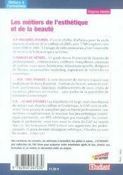 Les métiers de l'esthétique et de la beauté - 4ème de couverture - Format classique