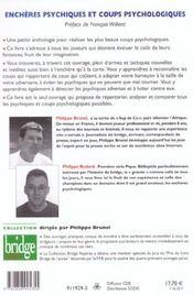 Anthologie Des Coups Psychologiques - 4ème de couverture - Format classique