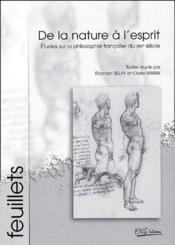 De la nature à l'esprit ; études sur la philosophie française du XIX siècle - Couverture - Format classique