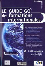 Guide Go Des Formations Internationales - Intérieur - Format classique