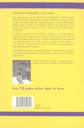 Voiture ; etincelant ambassadeur de l'esprit francais - 4ème de couverture - Format classique