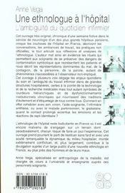 Une Ethnologue A L Hopital L Ambiguite Du Quotidien Infirmier - 4ème de couverture - Format classique