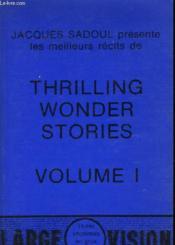 Thrilling Wonder Stories - Volume 1 - Couverture - Format classique
