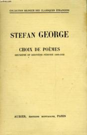 Choix De Poemes - Deuxieme Et Derniere Periode (1900-1933) - Couverture - Format classique