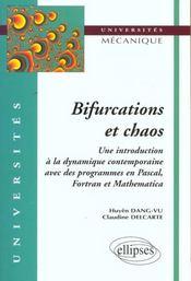 Bifurcations Et Chaos Une Introduction A La Dynamique Contemporaine Avec Des Programmes En Pascal - Intérieur - Format classique