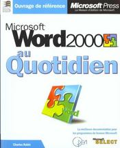 Word 2000 - Intérieur - Format classique