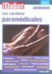 Les carrieres paramedicales - Couverture - Format classique