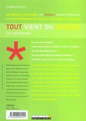 Tout Vient Du Ventre (Ou Presque) - 4ème de couverture - Format classique
