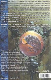 Sanglornis prima t.2 ; dangereux élevage - 4ème de couverture - Format classique