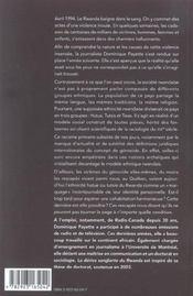 Derive Sanglante Du Rwanda (La) - 4ème de couverture - Format classique