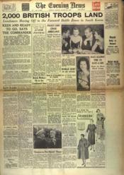 Evening News (The) N°21385 du 29/08/1950 - Couverture - Format classique