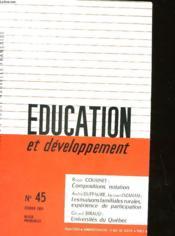 Education Et Developpement N°45 - Couverture - Format classique