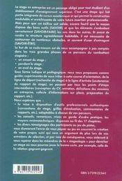 Valoriser Son Stage Tout Ce Que Vous Avez Toujours Voulu Savoir Sans Jamais Oser Le Demander - 4ème de couverture - Format classique
