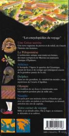 Grece (Athenes Et Le Peloponnese) - 4ème de couverture - Format classique