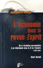 Economie dans la revue esprit - Intérieur - Format classique