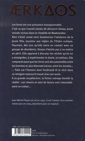 Aerkaos t.1 ; les frères de la ville morte - 4ème de couverture - Format classique