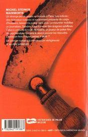 Main Morte - 4ème de couverture - Format classique
