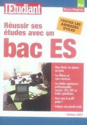 Réussir ses études avec un bac es - Intérieur - Format classique