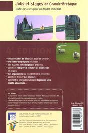 Jobs et stages en gd bretag 02 (édition 2002) - 4ème de couverture - Format classique