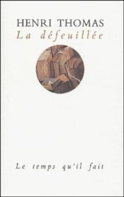 Defeuillee (La) - Couverture - Format classique