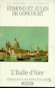 L'Italie D'Hier - Couverture - Format classique