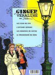 Ginger: Les mouches de Satan - 4ème de couverture - Format classique