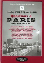 Questions A Paris - Intérieur - Format classique