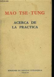Acerca De La Practica - Couverture - Format classique