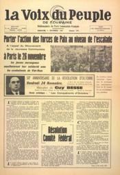 Voix Du Peuple De Touraine (La) N°1371 du 05/11/1967 - Couverture - Format classique