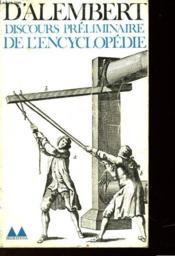 Discours Preliminaire De L'Encyclopedie - Couverture - Format classique