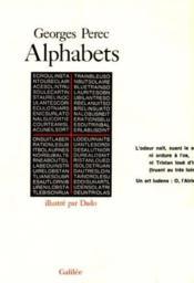 Alphabets - Couverture - Format classique