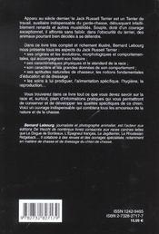 Jack Russel Terrier - 4ème de couverture - Format classique