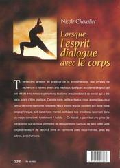 Lorsque l'esprit dialogue avec le corps ; 75 exercices pour vivre en harmonie - 4ème de couverture - Format classique