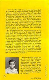 Jeudi Noir: L'Honneur Perdu De La France Profonde ... - 4ème de couverture - Format classique