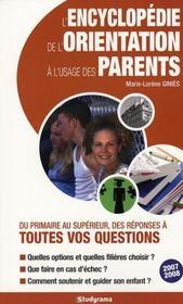 L'encyclopédie de l'orientation à l'usage des parents - Intérieur - Format classique